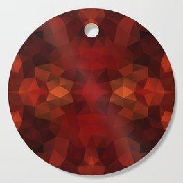 Mozaic design in bright red colors Cutting Board