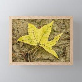 The Yellow Leaf Framed Mini Art Print