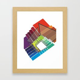 Stairway to Rainbow Framed Art Print