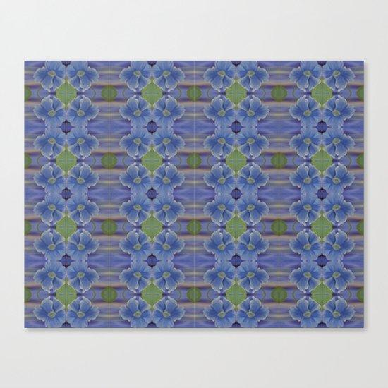 Nasturtium Flower Pattern Canvas Print