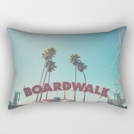 Santa Cruz boardwalk ... Rectangular Pillow