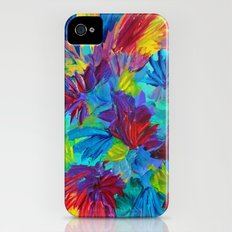 TUTTI FRUTTI - Fruit Punch Floral Bouquet Flowers Bright Bold Colorful Painting Romantic Rainbow Slim Case iPhone (4, 4s)