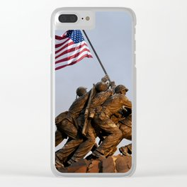 US Marine Corps Memorial Clear iPhone Case