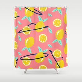 Lemons party #society6 #decor #buyart Shower Curtain