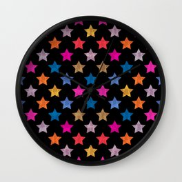 Colorful Star IV Wall Clock