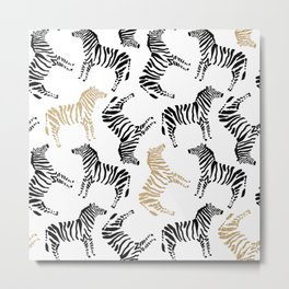 Zebra Pattern | Show Your Stripes Metal Print