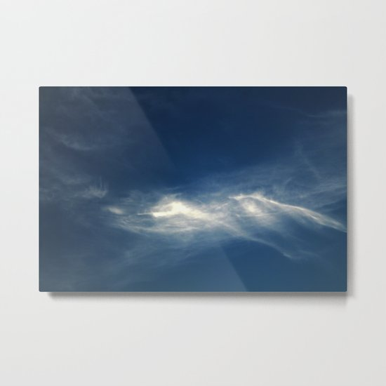 White mountains in the sky Metal Print