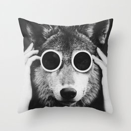 Wolf Glam Throw Pillow