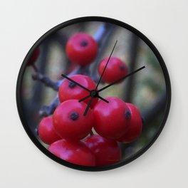 Late Winterberry Wall Clock