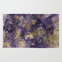 Writings in the Sky the Night Galaxy watercolor by CheyAnne Sexton Rug