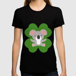 Koala On 4 Leaf Clover- St. Patricks Day Animal T-shirt