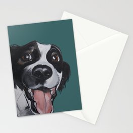 Maeby the border collie mix Stationery Cards