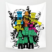 poker Wall Tapestries featuring Poker Toys by elRAiSE