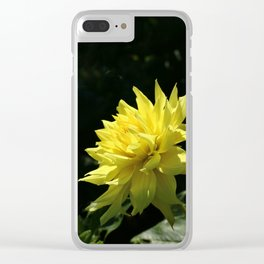 Yellow Passion Clear iPhone Case