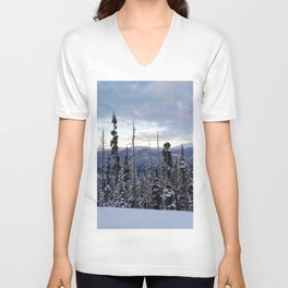 Snowy spruces frontier Unisex V-Neck