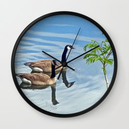 Enjoying a Swim Wall Clock