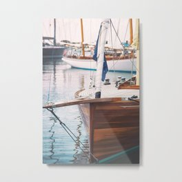 Wood Sailing Boat Metal Print