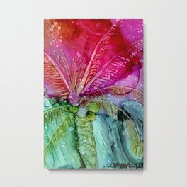 Colorful Palm Metal Print