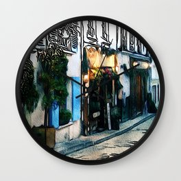 Patterns of Places - Montmartre Wall Clock