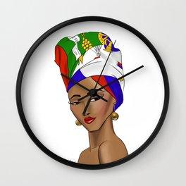 Lady Haiti Wall Clock
