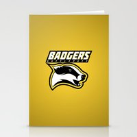 hufflepuff Stationery Cards featuring Badgers Hufflepuff  by Fresco Umbiatore