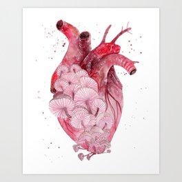 My Mushy Heart Art Print