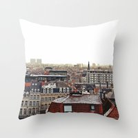 brussels Throw Pillows featuring Brussels by Anastasiia Prysiazhniuk