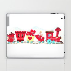Vintage Valentine Day Card Inspired - Love, Romance, Romatic, Red, Hearts, Cherub, Angels Laptop & iPad Skin