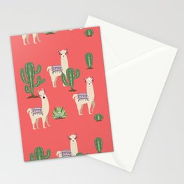 Llama with Cacti Stationery Cards