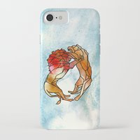 lions iPhone & iPod Cases featuring Lions by madbiffymorghulis