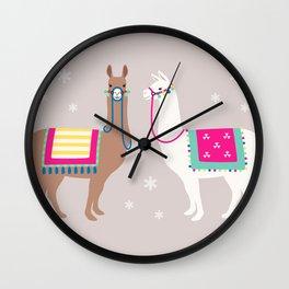 Drama Llama Wall Clock