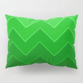 Gradient Green Zig-Zags Pillow Sham