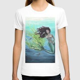 Calypso Nude Mermaid Underwater T-shirt