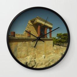 Knossos Palace Wall Clock
