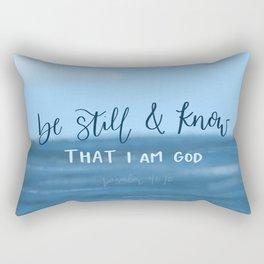 Be Still & Know Rectangular Pillow