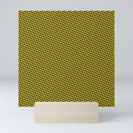 Baby Sharkstooth Sharks Pattern Repeat in Black and Yellow Mini Art Print