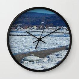 Frozen Beach Wall Clock