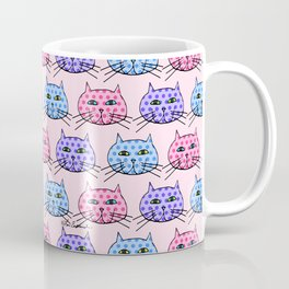 Polka Dot Cats Coffee Mug