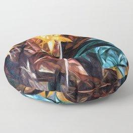 Rayonist Lillies by Natalia Goncharova Floor Pillow