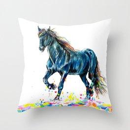 Color Run Throw Pillow