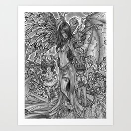 Devourer of Angels Art Print