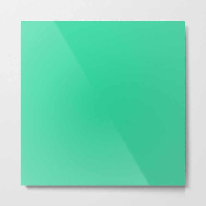 Pretty Emerald Green Metal Print
