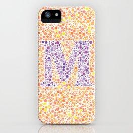 """M"" Eye Test Full iPhone Case"