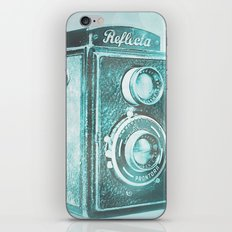 Teal Reflecta iPhone & iPod Skin