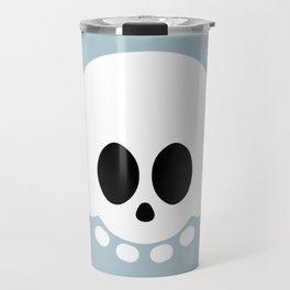 Skully light blue version Travel Mug