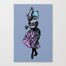 The Flamenco Cat  Canvas Print