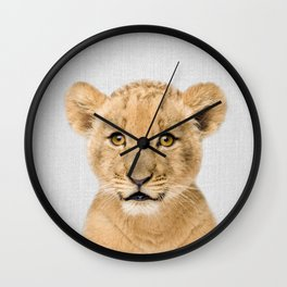 Baby Lion - Colorful Wall Clock