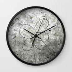 Sidewalk Flower Wall Clock