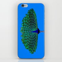 peacock iPhone & iPod Skins featuring Peacock by Crayle Vanest