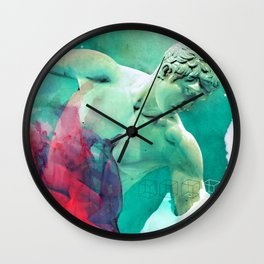 The Discobolus of Myron Wall Clock